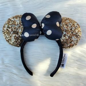 Disney Parks Black&Gold Minnie Mouse Ears
